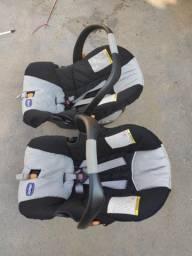 Carrinho gêmeos + bebê conforto