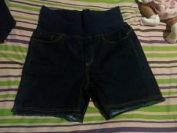 Bermuda jeans de grávida