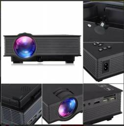 Mini Projetor Led Profissional 1200 Lumen Wifi Espelham Uc46 + Suporte Projetor Universal