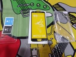 Kit Pelicula de vidro 3d e Capinha Moto G6