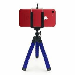 [ATACADO] Mini Tripé + Adaptador Para Colocar Celular