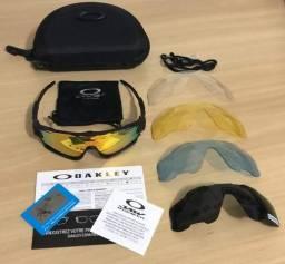 ec6c2f3d2 Oculos sol Oakley Jawbreaker 5 lentes Ciclismo Corrida Triathlon
