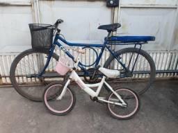 Vendo mesa e bicicletas