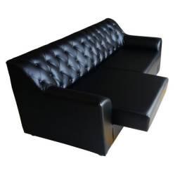 Sofá de 3 Lugares Botonê Chaise Retrátil