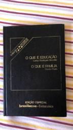 Livro O que é educação / O que é família