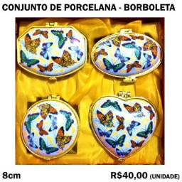 Título do anúncio: Conjunto de Porcelana - Borboletas - 4 Peças