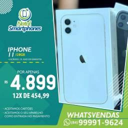 Iphone 11 128GB TODAS AS CORES - ZERO - LACRADO ( 1 ANO DE GARANTIA )