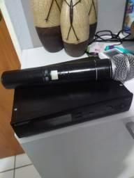 Sistema de microfone sem fio shure SLX4