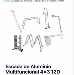 VENDO!! ESCADA MULTIFUNCIONAL de ALUMÍNIO 4x3 12D