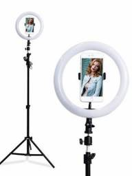 Iluminador Ring Light Anel Luz C Tripé 1,80 30cm