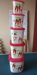 Conjunto de Mantimentos de plastico decorativo