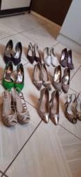 Lote calçados usados