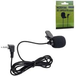 Microfone de lapela stereo p3
