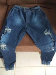 Calças Jeans e tênis