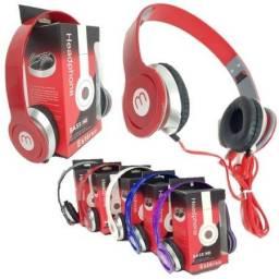 Fone De Ouvido Headphone Com Fio Estéreo Dobrável Celular Pc