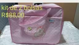 Conj de duas bolsas maternidade