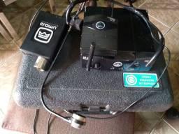 Microfone Auricular Crown Cm311a + Transmissor Akg Sr 40