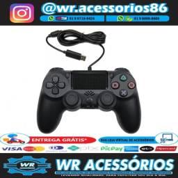 Título do anúncio: Controle para PS4 com Fio - Entrega Grátis