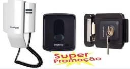 kit fechadura fx 2000 + interfone 8010 intelbras lançamento