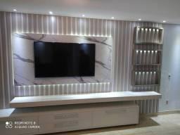 Painel para tv , móveis planejados , cozinha planejadas guarda roupa .