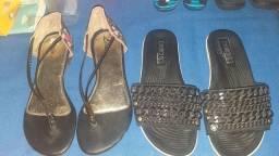 Sandálias novas.