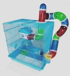 Gaiola Hamster 2 andar, playground Completa
