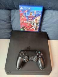 Playstation 4 Slim 500Gb 1 controle 1 jogo