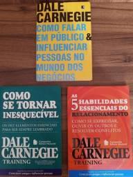 Kit com 3 Livros de Dale Carnegie em ótimo estado