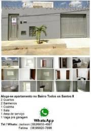 Aluga-se apartamento no Bairro Prolongamento Todos os Santos II