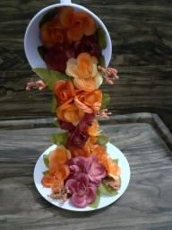 Xícara Cascata de Flores