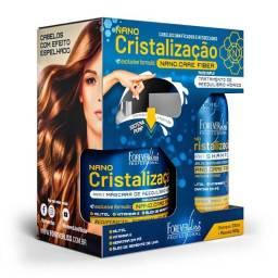 Nano Cristalização Capilar Forever Liss Kit Shampoo 300ml e Máscara 500g