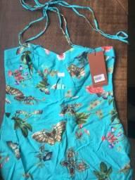 Blusa floral feminina nova
