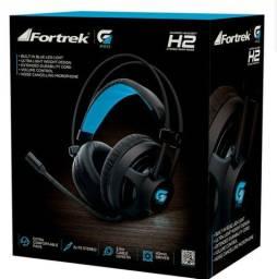 FONE HEADSET GAMER P2 (2X) +USB PRO H2 PRETO FORTREK(H2)