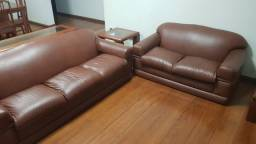 Sofá para sala - Courino Marrom (3 e 2 lugares)