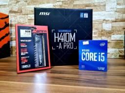 Kit Gamer I5 10400F H410 8GB Ram 2666 Mhz