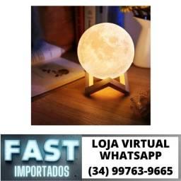 Luminária Lua Led 11cm Amarela