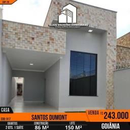 Casa de 2 Quartos sendo 1 Suíte no setor santos  Dumont em Goiânia-GO