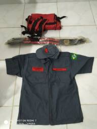 Kit de uniforme de bombeiro civil