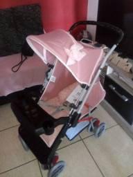 Carrinho de bebê Tutti- Rosa