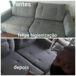 Limpeza e impermeabilização de sofá!!!!