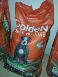 Ração Golden Power Training para Cães Adultos Sabor Frango e Arroz - 15kg