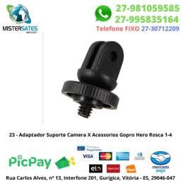 23 - Adaptador Suporte Camera X Acessorios Gopro Hero Rosca 1-4