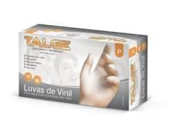 Luva Vinil P Talge C/ PÓ (100 Unidades)
