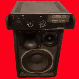 Amplificador Potência Wattsom DBS 720 + Caixa Trio de 350w RMS