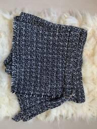 Short saia de tweed P