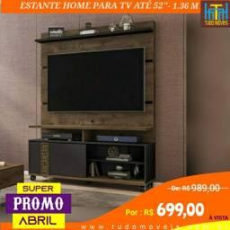 SUPER PROMO ABRIL / ESTANTE HOME PARA TV ATÉ 52 POLEGADAS COM RODÍZIOS