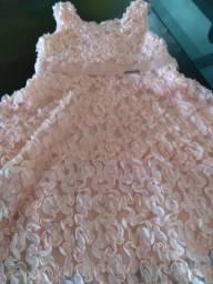 Vestido menina cor Salmon