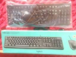 Vendo kit teclado e mouse MK120 na caixa