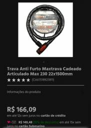Trava Anti Furto Maxtrava Cadeado Articulado Max 230 22x1500mm