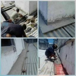 Paulo tiramos Goteira aplicação de manta fria consertos e reparo reforma de Telhados